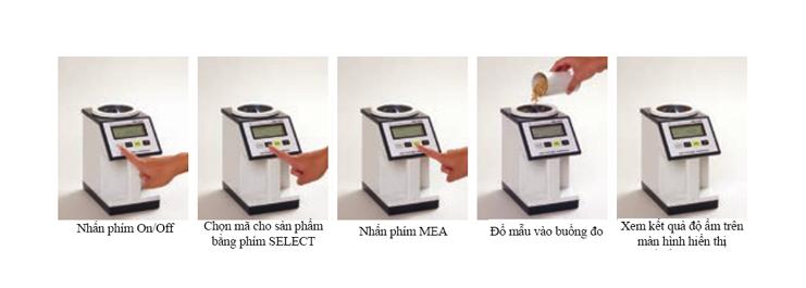 Thao tác đo  Máy đo độ ẩm PM450 Kett